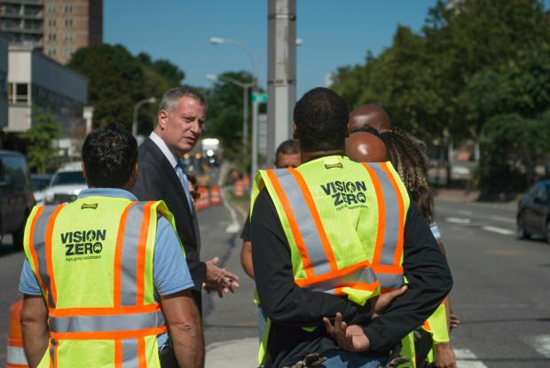 NYC Vision Zero Benefits Motorcyclists and Pedestrians over Cyclists and Motor Vehicle Occupants